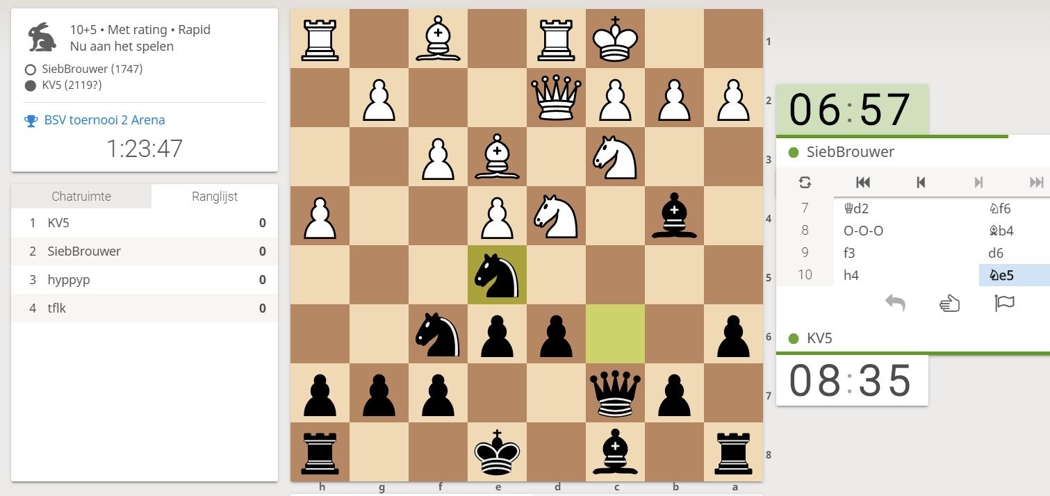 Online schaaktoernooi